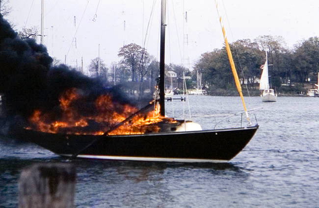 sailboat fire